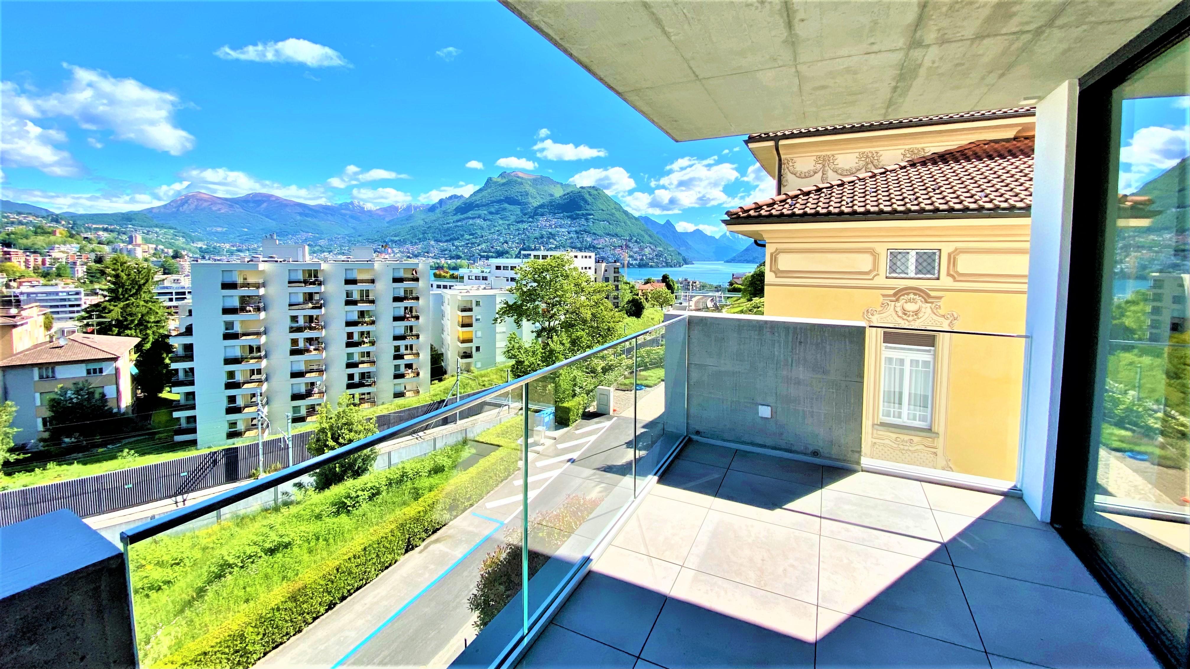 Nuovissimo appartamento di alto standing con vista lago in vendita a Paradiso
